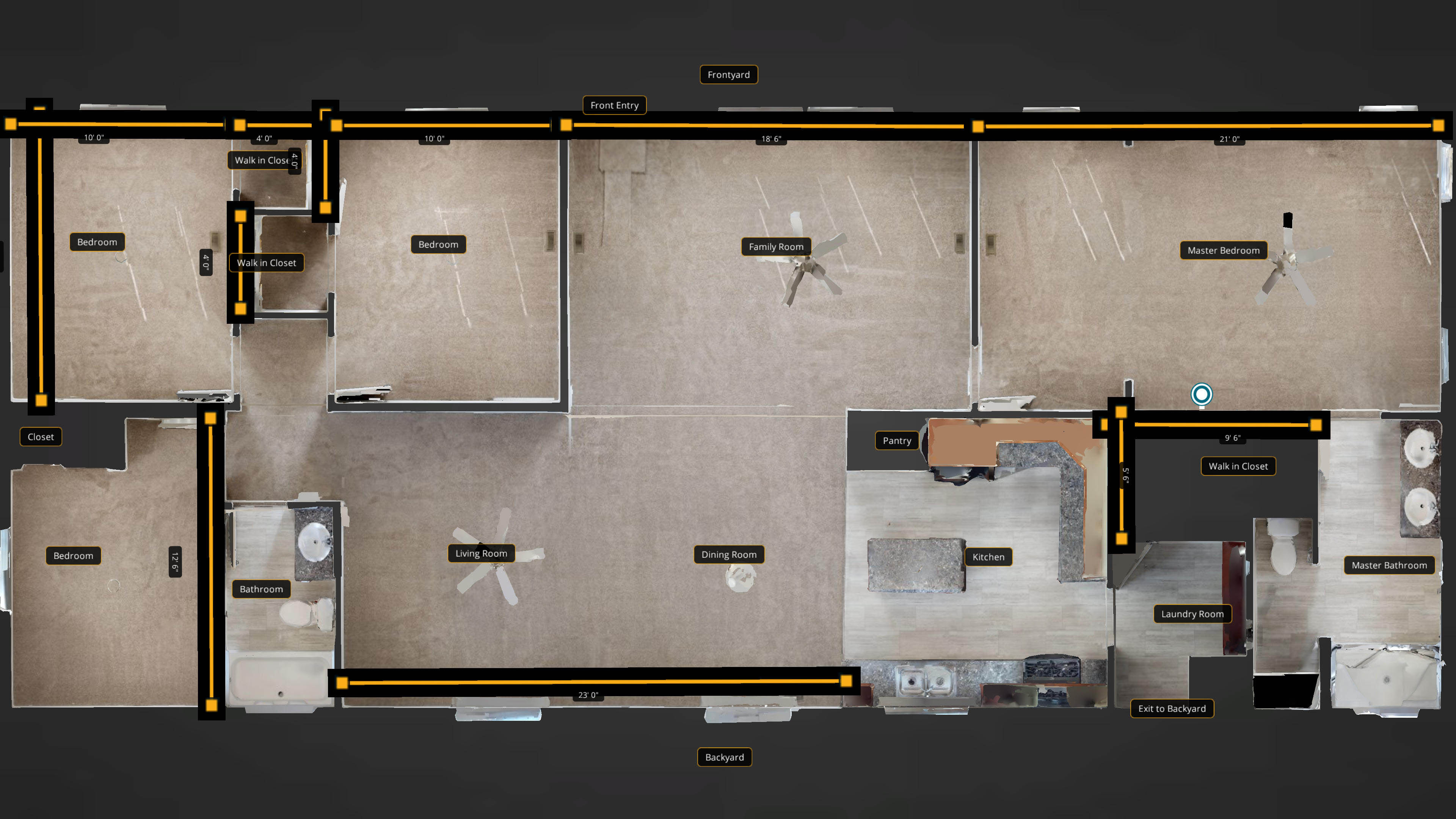 Floorplan with labels
